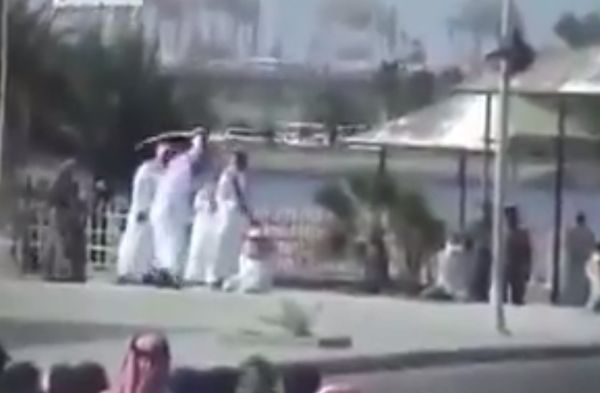 A leaked video shows three men being publicly beheaded in Saudi.