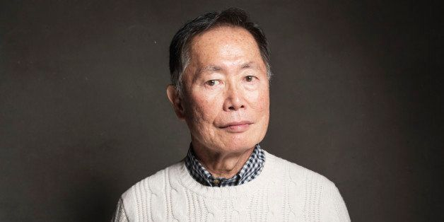 George Takei poses for a portrait at Quaker Good Energy Lodge with GenArt and the Collective , during the Sundance Film Festi