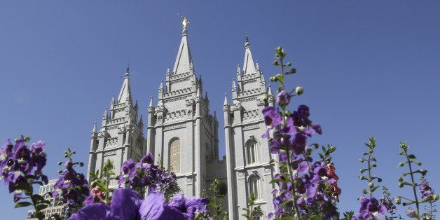 Flowers bloom in front of the Salt Lake Temple in Temple Square in Salt Lake City on Wednesday, Sept. 3, 2014. The Church of