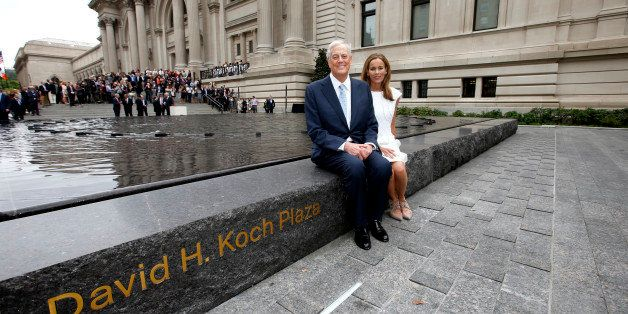 IMAGE DISTRIBUTED FOR DAVID H. KOCH FOUNDATION - David H. Koch, left, and Julia Koch as seen at the unveiling of the Metropol
