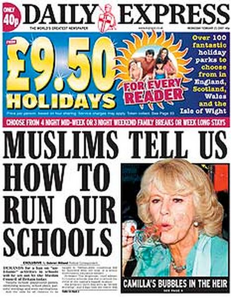 """""""Those Muslims. Our schools. The idea that Muslim children, Muslim parents, are as much part of the British schools culture,"""