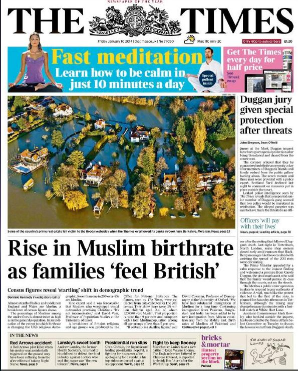 """The opening sentence read: """"Almost a tenth of babies and toddlers in England and Wales are Muslim"""" - something we should be a"""