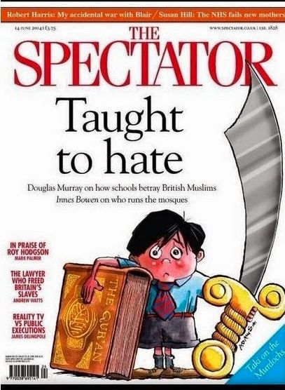 The Spectator's cover image in response to the row over alleged extremism in some schools in Birmingham, the so-called Trojan