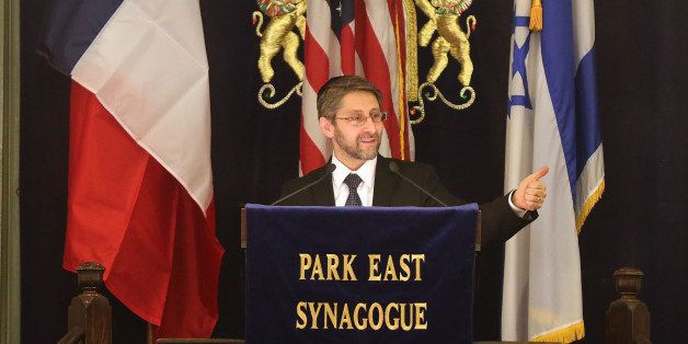 NEW YORK, NY - FEBRUARY 19:  France's chief rabbi, Haim Korsia, discusses anti-semitism and terrorism at the Park East Synago