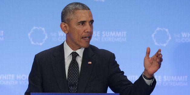 WASHINGTON, DC - FEBRUARY 19:  U.S. President Barack Obama addresses the White House Summit on Countering Violent Extremism F