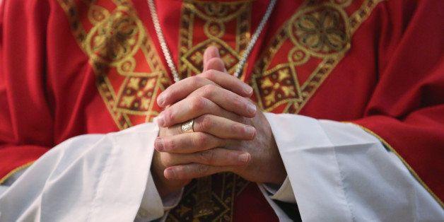 WALLKILL, NY - NOVEMBER 24:  Archbishop of New York, Cardinal Timothy Dolan, celebrates Mass at the Wallkill Correctional Fac