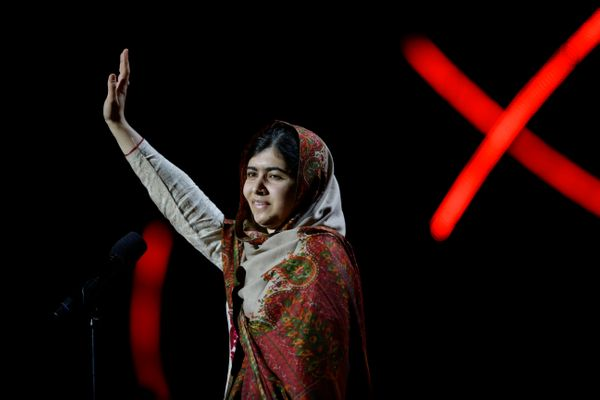 "Seventeen-year-old Malala Yousafzai <a href=""http://www.huffingtonpost.com/2014/12/10/malala-satyarthi-nobel-peace-prize_n_63"