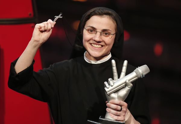 "Sister Cristina Scuccia won ""The Voice of Italy"" on June 6, 2014 with breathtaking renditions of popular songs like Alicia Ke"