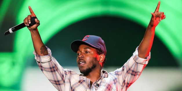 LOS ANGELES, CA - AUGUST 30:  Rapper Kendrick Lamar performs during Day 1 of the Budweiser Made in America festival at Los An