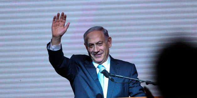 FILE - In this Wednesday, March 18, 2015 file photo, Israeli Prime Minister Benjamin Netanyahu greets supporters at the party