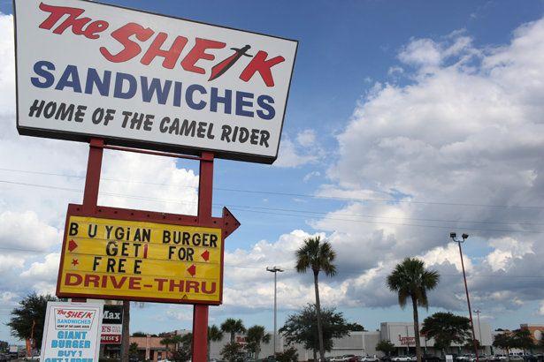 The Sheik Sandwiches, Jacksonville, Florida.
