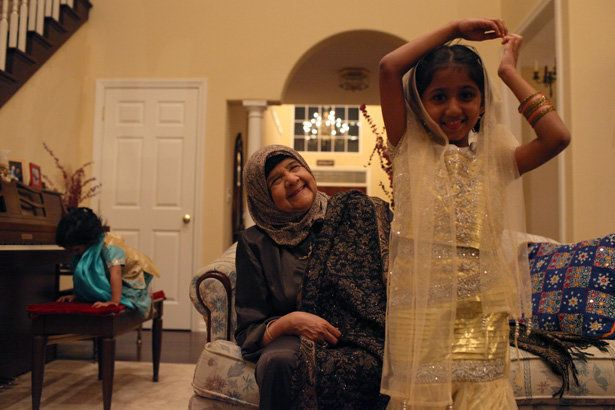 Dr. Malika Haque and her granddaughter.