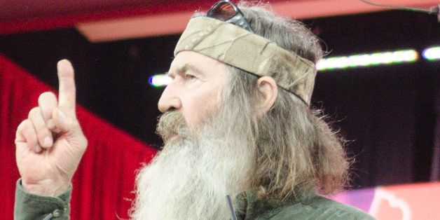 NATIONAL HARBOR, MD - FEBRUARY 27: Phil Robertson of A&E's Duck Dynasty addresses the 42nd annual Conservative Political Acti