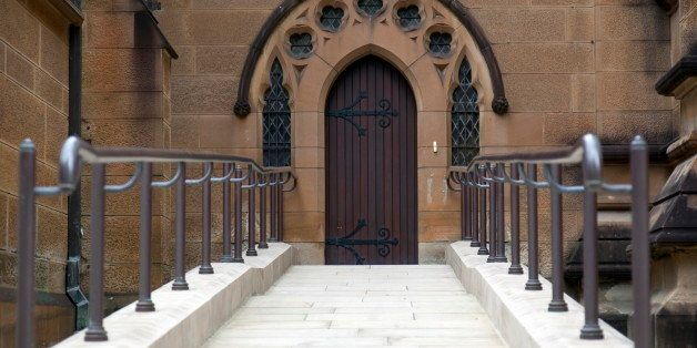 Entrance to st. Mary?s Cathedral. Sydney. Australia