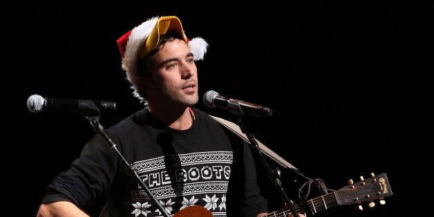 NEW YORK, NY - DECEMBER 06:  Sufjan Stevens performs during Cyndi Lauper's 4th Annual 'Home For The Holidays' Benefit Concert
