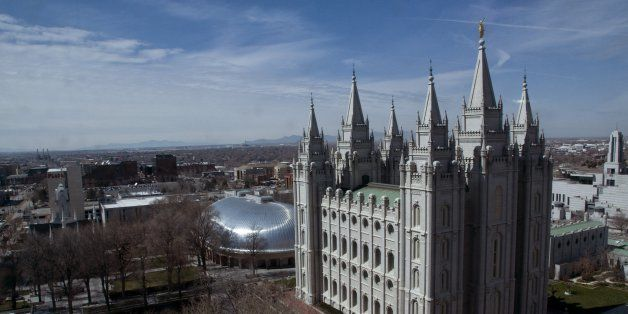 Mormon Temple and Tabernacle, Temple Square, Salt Lake City, Utah. (Photo by: Universal Images Group via Getty Images)
