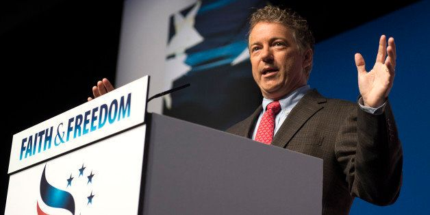 Sen. Rand Paul, R-Ky. speaks at Faith and Freedom Coalition's Road to Majority event in Washington, Friday, June 20, 2014. Or