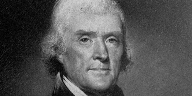 Third U.S. President Thomas Jefferson is seen in this undated portrait.  The original portrait by Rembrandt Peale hangs in th