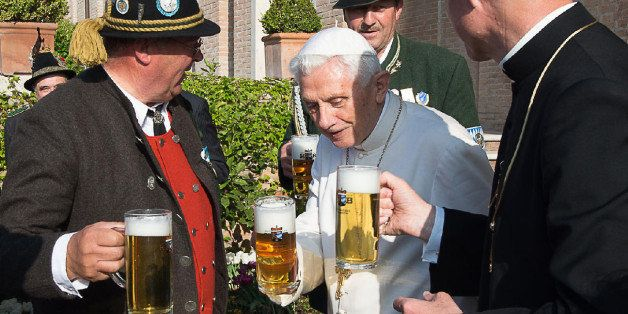 CORRECTS AGE OF POPE EMERITUS BENEDICT XVI - CORRECTS LOCATION OF THE BIRTHDAY PARTY TO VATICAN GARDENS - RESENDING TO PROVID