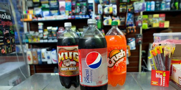 NEW YORK, NY - MARCH 11:  Large soda bottles are seen in a bodega in Chinatown March 11, 2013 New York City. Today a New York