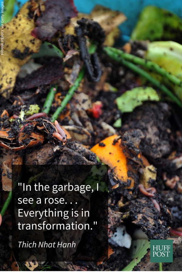 Compost can be smelly at first, but it also holds the promise of new life. It's important to make sure the waste from a meal