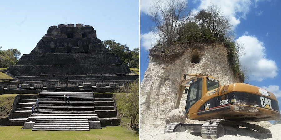 """In 2013, a construction company in Belize almost entirely <a href=""""https://www.huffpost.com/entry/mayan-pyramid-destroyed_n_3"""