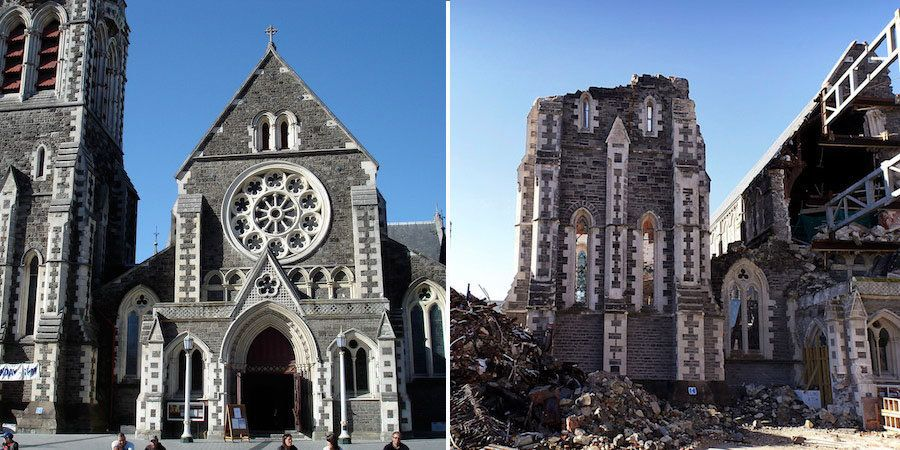 A magnitude 6.3 earthquake hit the Canterbury Region in New Zealand's South Island on February 22, 2011, causing severe damag
