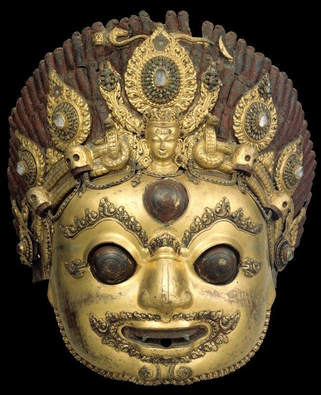 The Terrifying One Shiva Bhairava Nepal (16th century), gilt copper alloy