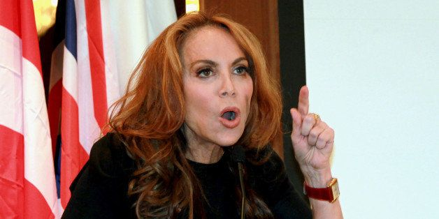 FILE - In this Sept. 11, 2012 file photo, Pamela Geller, head of the American Freedom Defense Initiative, speaks at a confere