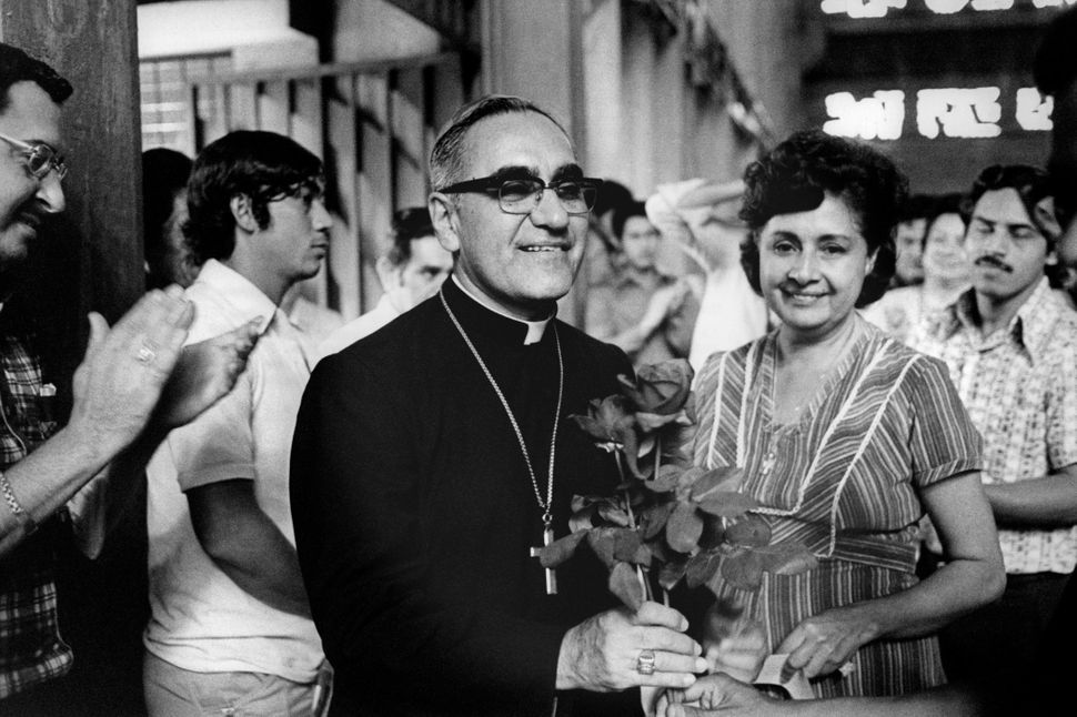 Jan 1, 1979 - San Salvador, El Salvador - EXCLUSIVE - The martyr Archbishop Oscar Romero of El Salvador is welcomed by congre