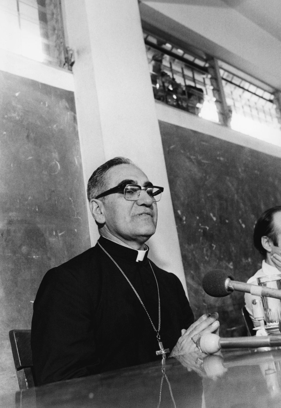 Jan 1, 1979 - San Salvador, El Salvador - EXCLUSIVE - The martyr Archbishop Oscar Romero of El Salvador speaks with the press