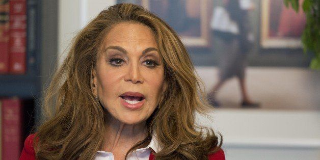Pamela Geller is interviewed at The Associated Press, Thursday, May 7, 2015 in New York. Geller was standing on the docks ove
