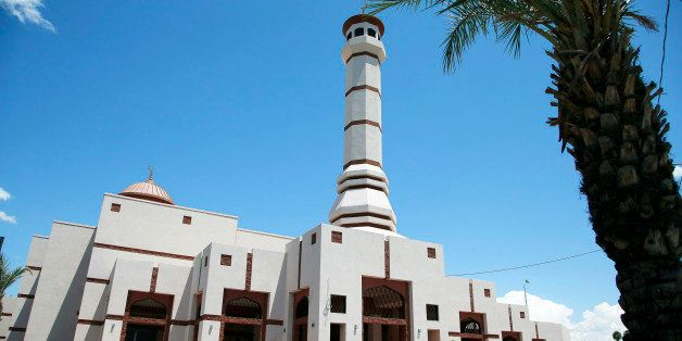 FILE- This Monday, May 4, 2015 file photo shows the Islamic Community Center of Phoenix. A civil rights group has asked the F