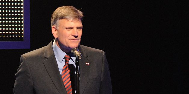 NASHVILLE, TN - APRIL 21:  TV Personality Franklin Graham at The 41st Annual GMA Dove Awards at The Grand Ole Opry House on A