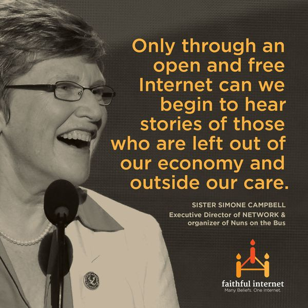 """Sister Simone Campbell, executive director of <a href=""""http://www.networklobby.org/"""" target=""""_hplink"""">NETWORK</a>, the Cathol"""
