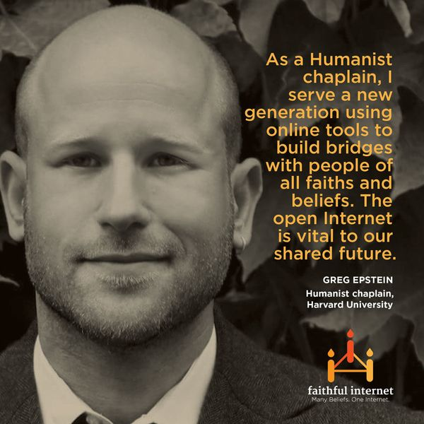 "Greg Epstein is the<a href=""http://www.humanisthub.org/"" target=""_hplink""> Humanist chaplain at Harvard University</a>. As an"