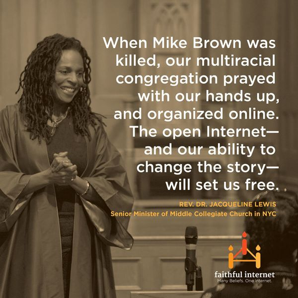 """Rev. Jacqueline Lewis is senior minister of <a href=""""http://www.middlechurch.org/"""" target=""""_hplink"""">Middle Collegiate Church<"""