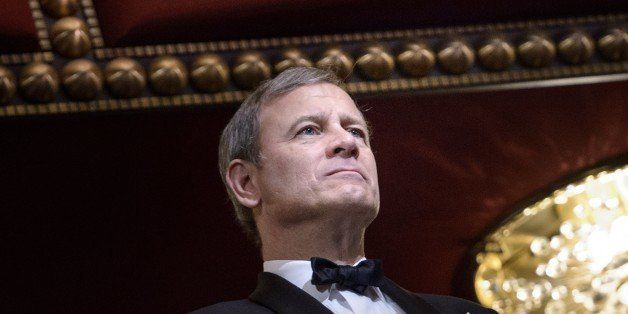 Chief Justice of the US Supreme Court John Roberts listens during the 37th Kennedy Center Honors at the Kennedy Center Decemb