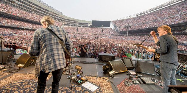 IMAGE DISTRIBUTED FOR THE GRATEFUL DEAD - Phil Lesh, Trey Anastasio of The Grateful Dead perform at Grateful Dead Fare Thee W