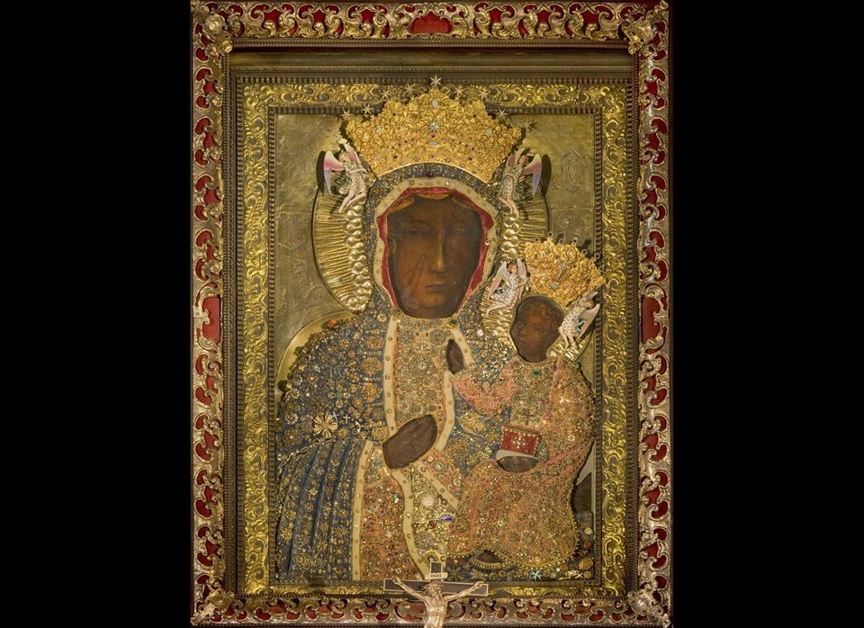 Mysterious and scarred, Our Lady of Czestochowa (c. 14th century) is one of the most revered black madonnas, a group of portr