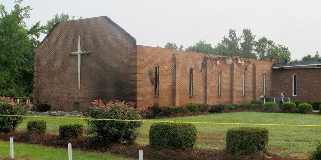 The Mount Zion AME Church in Greeleyville, S.C., is seen on Wednesday, July 1, 2015, after it was heavily damaged by fire. Th