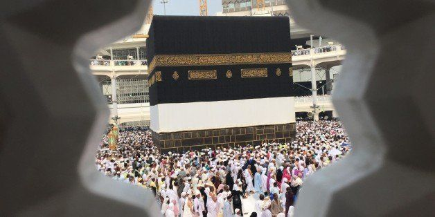 Muslim pilgrims walk around the Kaaba at the Grand Mosque on September 14, 2015 in Saudi Arabia's holy Muslim city of Mecca.