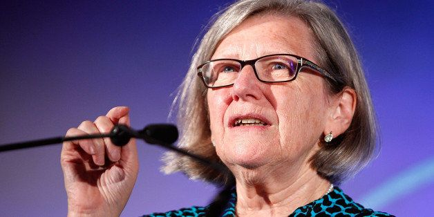 WASHINGTON, DC - JUNE 13:  (EXCLUSIVE COVERAGE) Women's Empowerment award winner Sister Simone Campbell at the 2014 YWCA USA