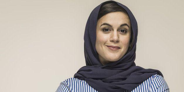 young woman wearing hijab head scarf