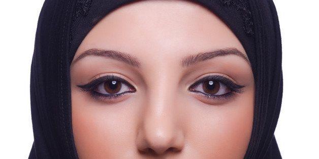 muslim young woman wearing...