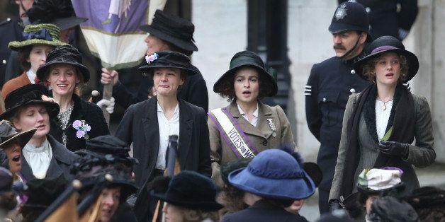 LONDON, ENGLAND - APRIL 11:  Actors (L-R) Anne-Marie Duff, Carey Mulligan, Helena Bonham Carter and Romola Garai take part in