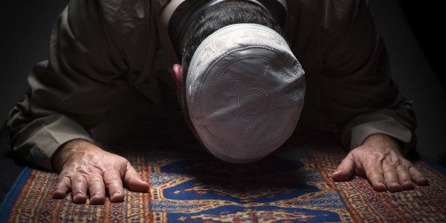 muslim man praying  (this picture have been shot with a Hasselblad HD3 II 31 megapixels)