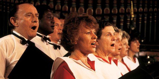 women and men singing in a church choir