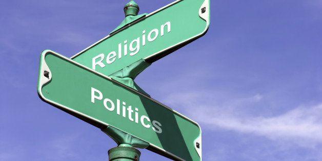 Concept of where Religion and Politics intersect.