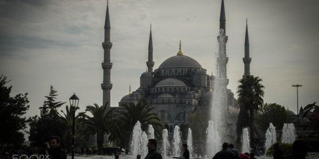A view of the Blue Mosque in Istanbul, Turkey